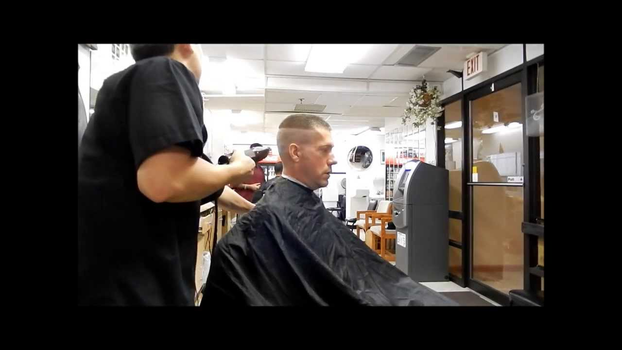 Military haircut for men