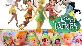 9 Surprise Eggs! Disney Fairies! Unboxing!