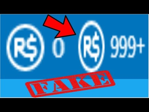 How To Get 999 Robux Fake Youtube