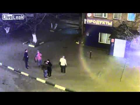 Crazy brawl in street Russia