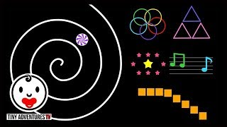 Baby Sensory - Color Animation #4 - Spirals - Infant Visual Stimulation (Soothe colic baby)
