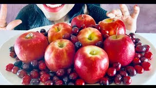 LADY RED APPLES AND CRANBERRIES| ASMR (Extreme Crunch)