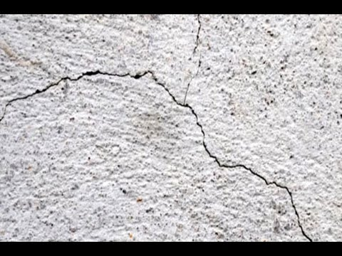 how to repair shrinkage cracks on a concrete slab youtube