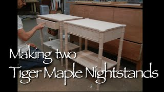 Custom Nightstand Building Process By Doucette And Wolfe Furniture Maker