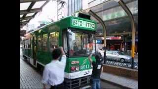 THE HONG's boarding a tram (Sapporo Tramway / 札幌市電/山鼻線) / 더홍, 홍의성, みどぐり