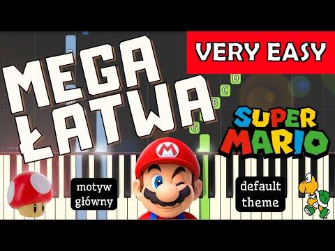 🎹 Super Mario Bros (Motyw główny, default theme) - Piano Tutorial (MEGA ŁATWA wersja) (VERY EASY) 🎹