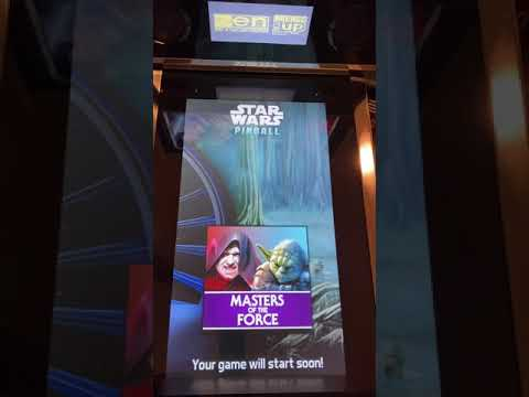 Masters of the Force Close up - arcade1up Star Wars Pinball from Kelsalls Arcade