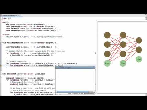Neural Net in C++ Tutorial on Vimeo