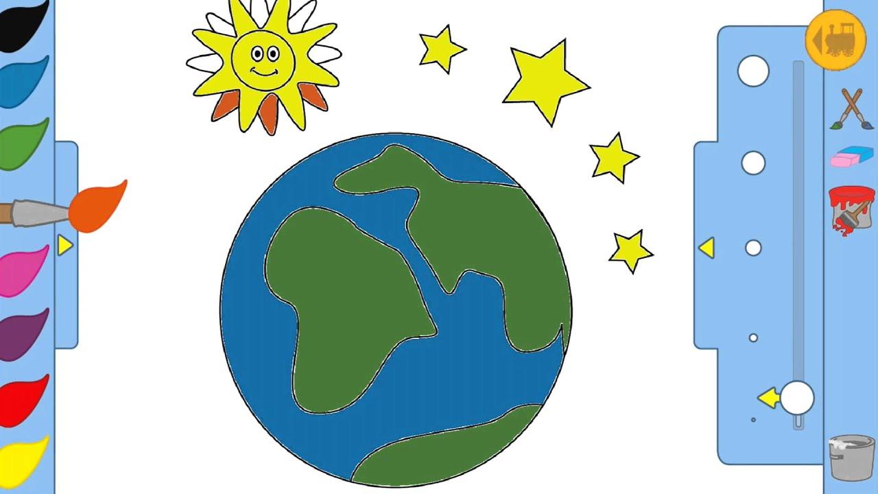Jeu Enfant Dessin La Terre