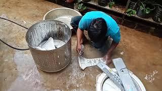 Hướng Dẫn Vệ Sinh Máy Giặt Sanyo inverter D90VT 9kg