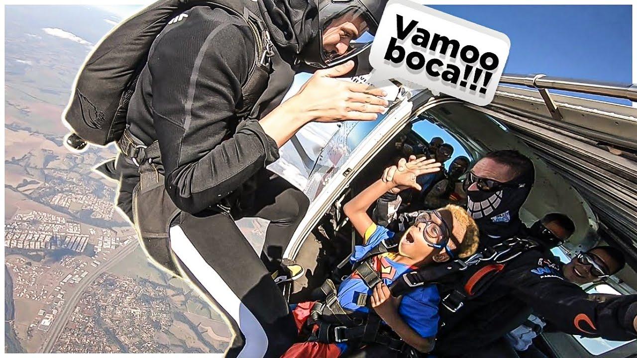 LEVEI O BOCA DE 09 PRA SALTAR DE PARAQUEDAS!!! ‹ JonVlogs ›