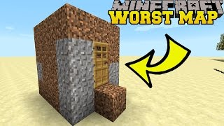 Minecraft: THE WORST MINECRAFT MAP EVER?! - BAD MAP - Custom Map thumbnail