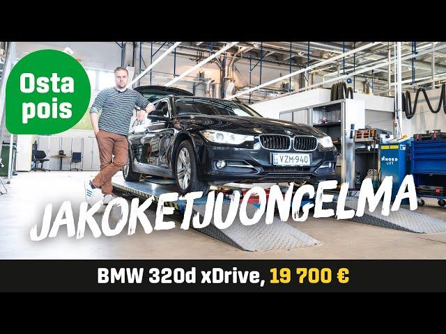 Käytetty: BMW 320d xDrive (19 700€) - Jakoketjuongelma - Tuulilasi