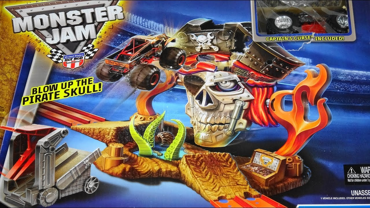 Hot Wheels Monster Jam Blow Up The Pirate Skull Pirate Takedown Youtube