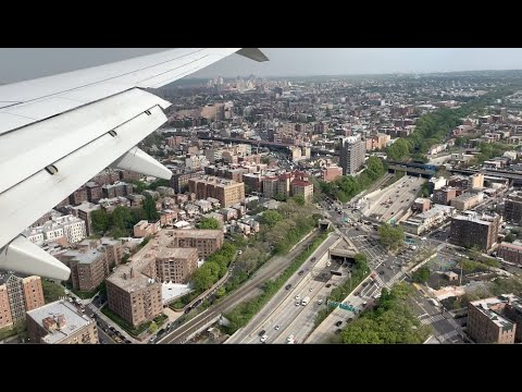 Brooklyn-Queens Express! A 737 MAX Landing @ LaGuardia, Over NYC's Two Biggest Boroughs