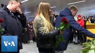 Ukrainians Lay Flowers for Victims of Plane Crash in Iran