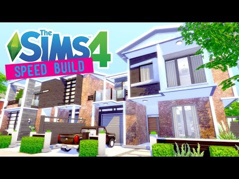 The Sims 4 - Speed Build - Duplex (Collab w/ WrongWay) - No CC -