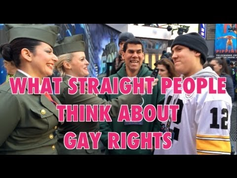What Straight People Think About Gay Rights