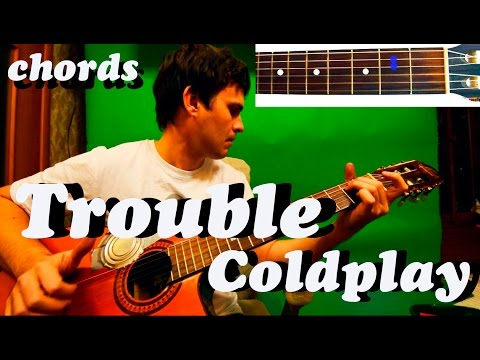 Guitar chords: Coldplay - Trouble