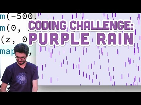 Coding Challenge #4: Purple Rain in Processing