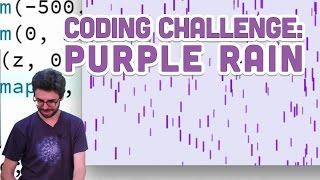 Coding Challenge #4: Purple Rain in Processing
