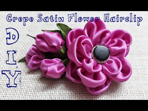 D.I.Y. Crepe Satin Flower Hairclip Tutorial   MyInDulzens