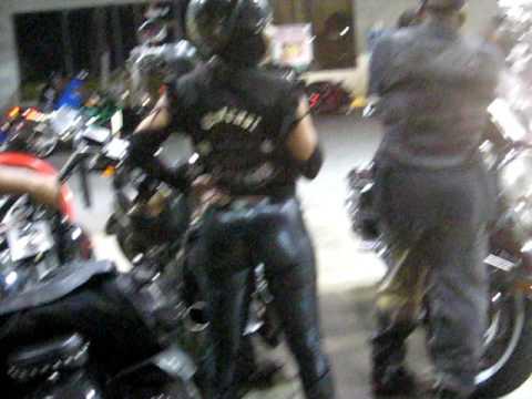 Black Leather Pants Black Bike Week 2009 In Atlanta Youtube
