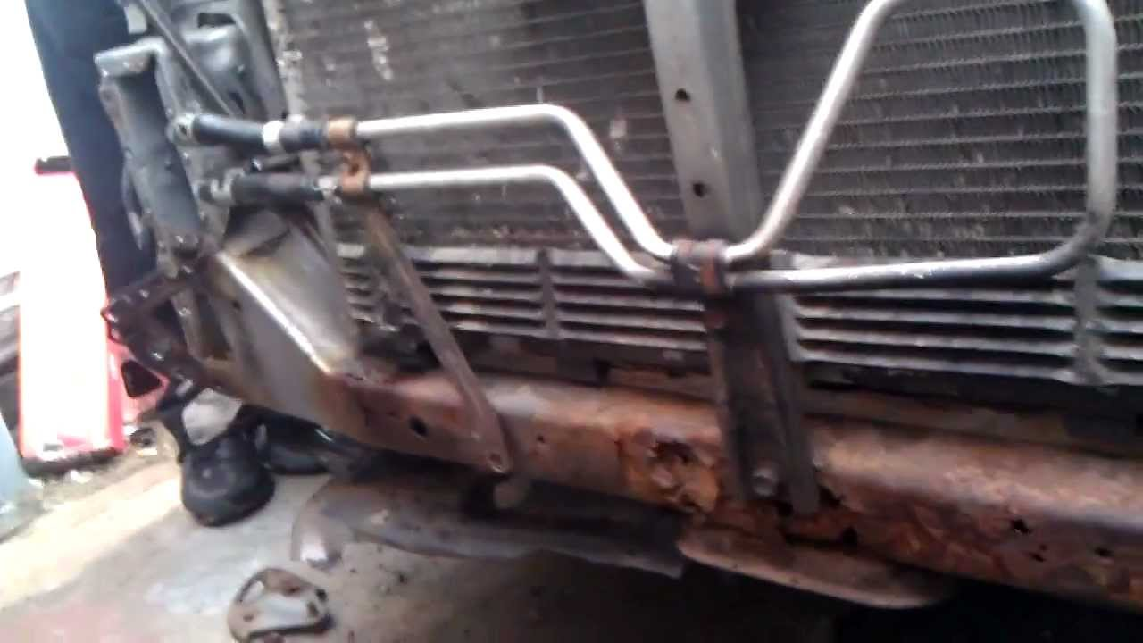 nissan maxima lower radiator support project - YouTube