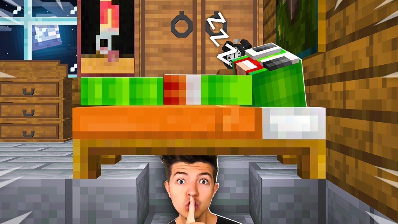 I Spent 24 Hours in Unspeakable's Minecraft House! (He didn't know...) thumbnail