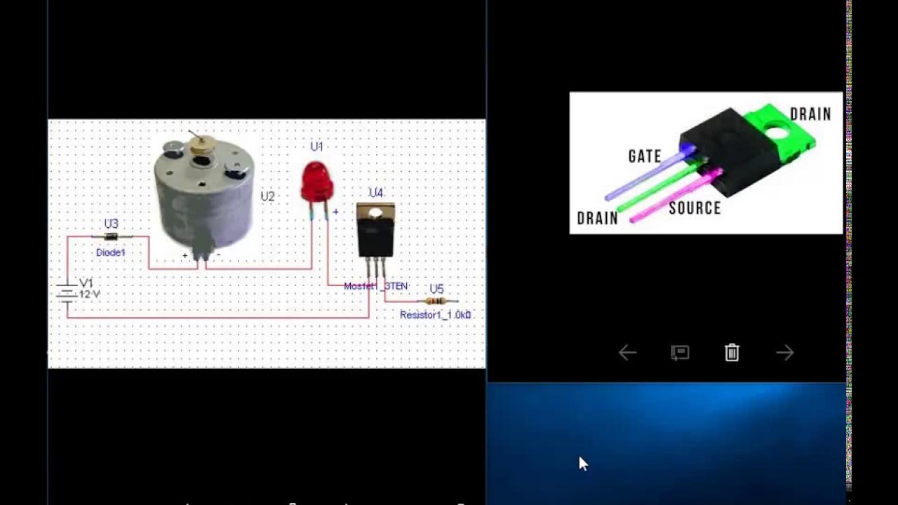 Le transistor mosfet avec un moteur youtube for Le transistor