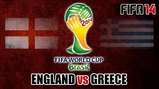 "FIFA 14 | ""England v Greece"" - 2014 World Cup (Knockout Stage) [PS4 Gameplay]"