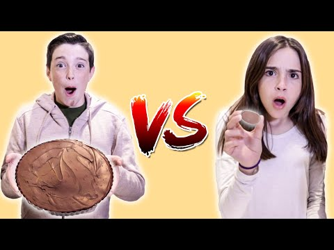 GIANT vs MINI PEANUT BUTTER CUP!!
