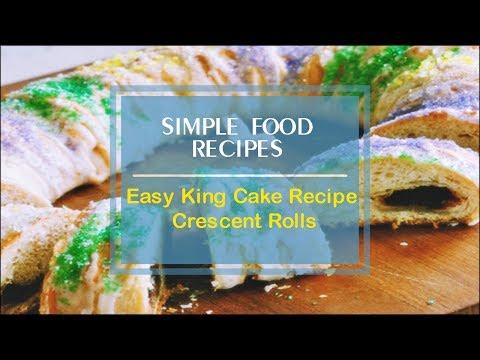 Easy King Cake Recipe Crescent Rolls