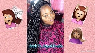 Jumbo Box Braids/Triangle Parting...BACK 2 SCHOOL LOOK
