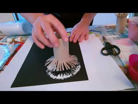 Toilet Paper Rolls Dandelion Painting Technique For Beg