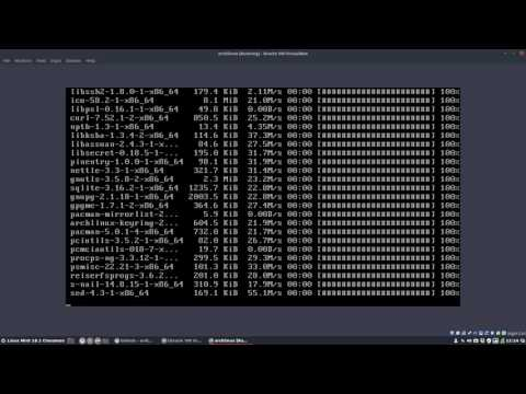 how to install arch linux and install any desktop environment afterwards -iso of 01/2017