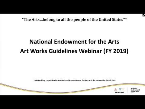 Art Works Guidelines Workshop January 2018