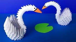Origami Schwan basteln mit Papier - Origami Tiere falten - Geschenk basteln - Bastelideen