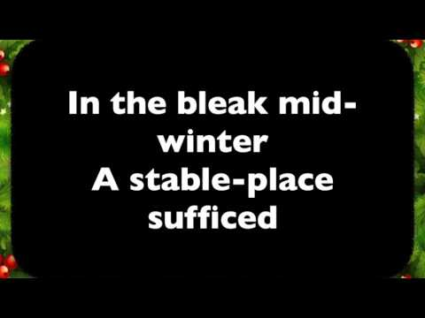 In the bleak midwinter (organ accompaniment with text captions)