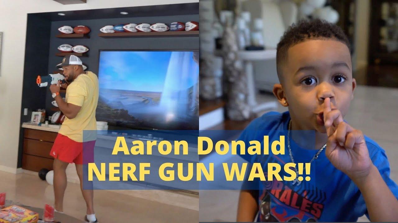 FAMILY NERF GUN WARS + PRIVATE JET TRIP | AARON DONALD