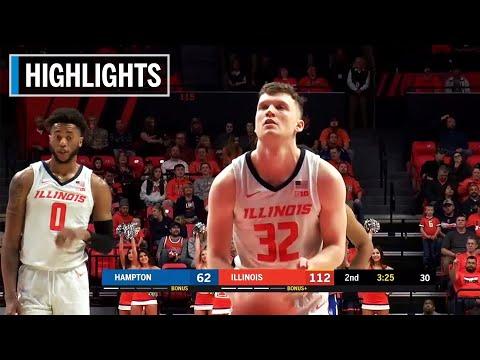 highlights:-cockburn-scores-20-points-in-win-|-hampton-at-illinois-|-nov.-23,-2019