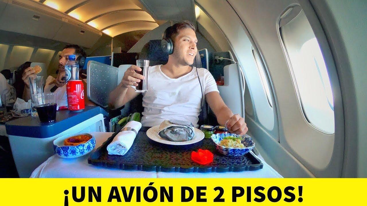 Vuelo de LUJO en un AVIÓN DE 2 PISOS! 😱 747-KLM | ✈️CapiTienda