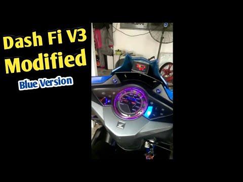 Honda Dash FI V3 Blue Edision Modified Style Motovlog