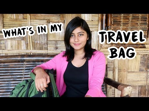 What's In My BACKPACK? 🎒| MY TRAVEL ESSENTIALS | Kritika Goel