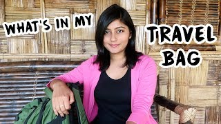 What's In My BACKPACK? 🎒  MY TRAVEL ESSENTIALS   Kritika Goel