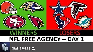 NFL Free Agency Winners & Losers From Day 1 Featuring Cowboys, 49ers, Texans, Cardinals & Browns