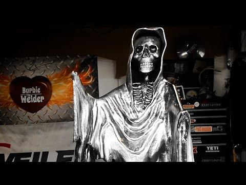 How To Weld The Grim Reaper-Scrap Metal Art Sculpture With BarbieTheWelder