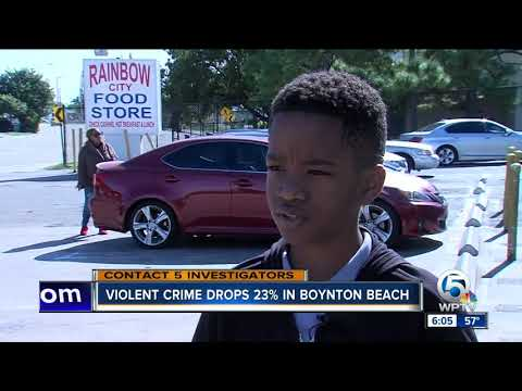 Violent crime down in Boynton Beach