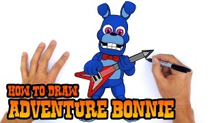How to Draw Adventure Bonnie | FNAF World