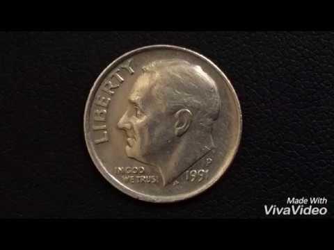 1991 P ONE DIME RARE USA COIN ERROR COIN Монеты США ДАЙМ 1991  года Нумизматика Qepik